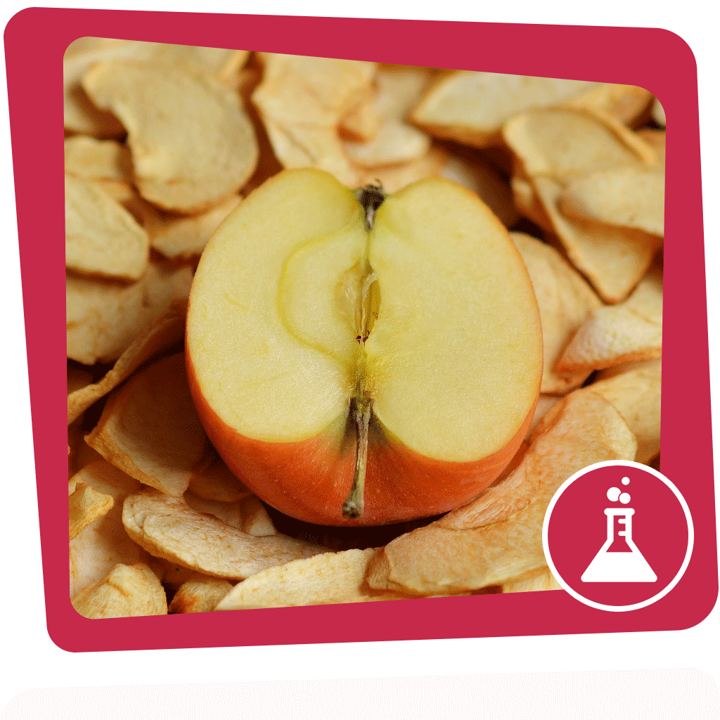 Aufgeschnittener Apfel